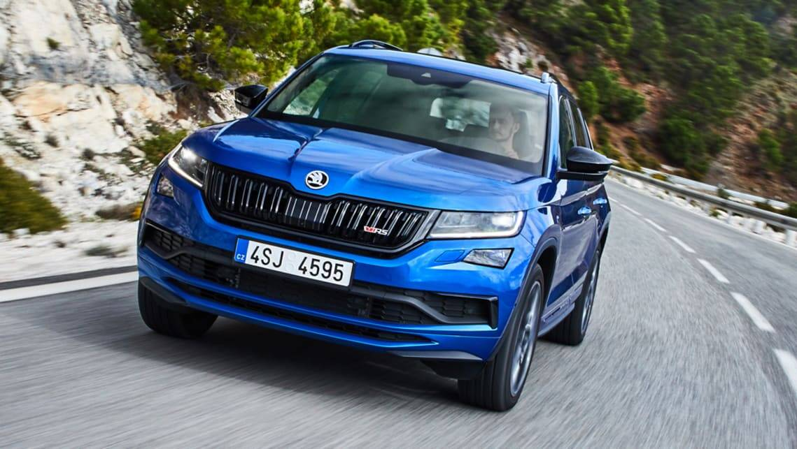 New Skoda Kodiaq Rs 2020 Pricing And Specs Detailed Seven Seat Super Suv Rockets In Car News Carsguide