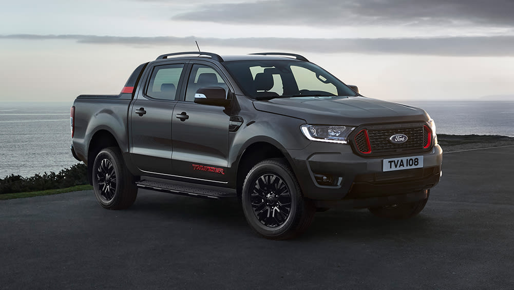 new ford ranger thunder 2020 detailed: angry dual-cab ute