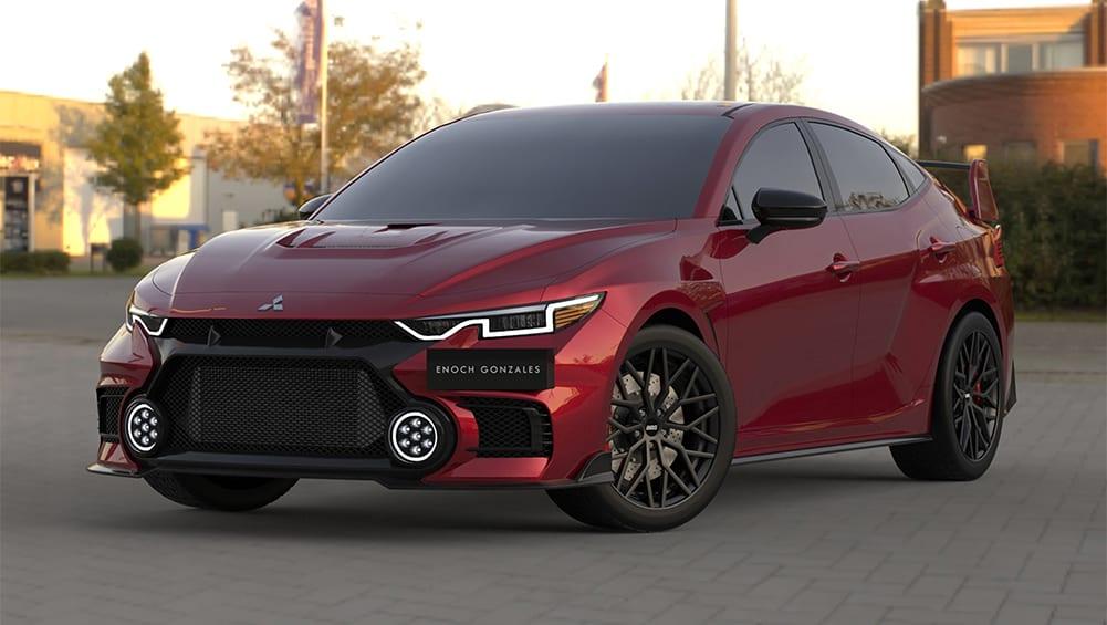 2023 Mitsubishi Lancer Evo XI sedan red Enoch Gonzales 1001x565 1.