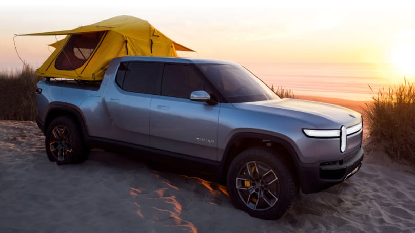 The Rivian electric ute with a few tricks up its sleeve.
