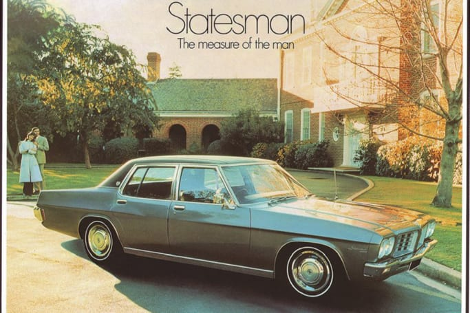 The Statesman was Holden's answer to Ford's Fairlane.