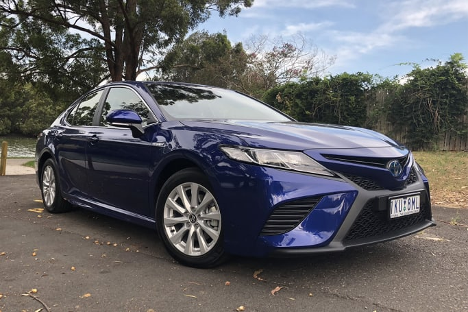 The latest Toyota Camry is great for families with a full suite of safety kit and low running costs.