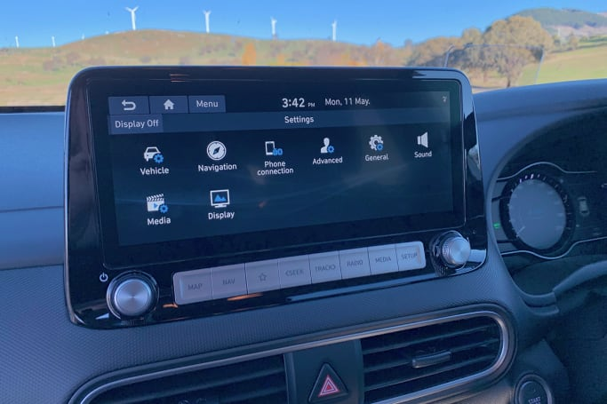 The media system is new - a 10.25-inch unit with all the things you'd expect, like Apple CarPlay and Android Auto.