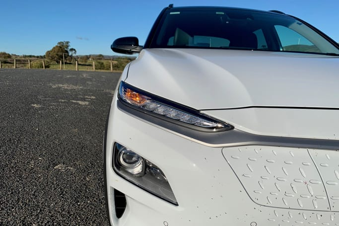 The exterior has LED daytime running lights and LED headlights.