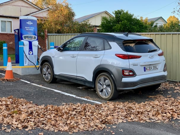 If you have access to a 50kW fast charger you'll get to 80 per cent charge in about 75 minutes.