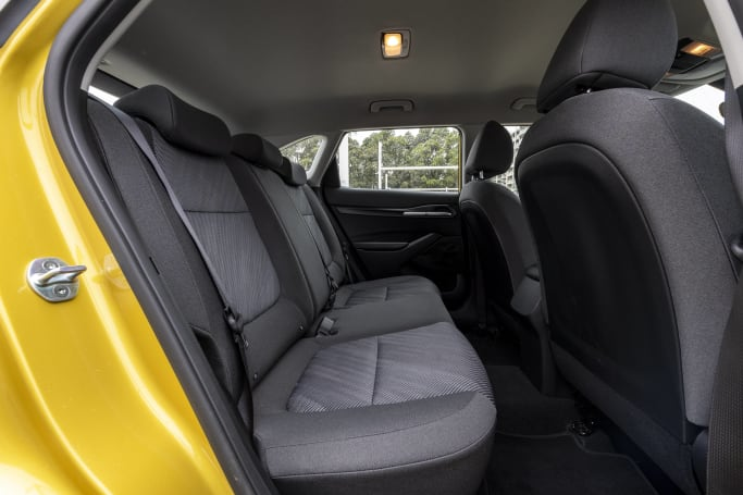 The rear doors are large and tall, making for an easy entry and exit.