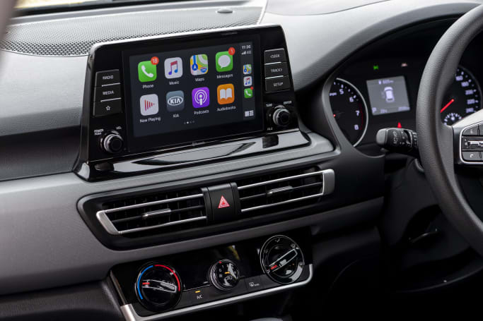 The Seltos S comes standard with an eight-inch touch screen.