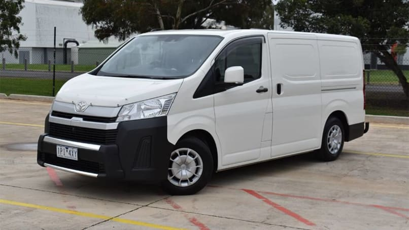 The Toyota HiAce van was one of few models that thrived in 2020.