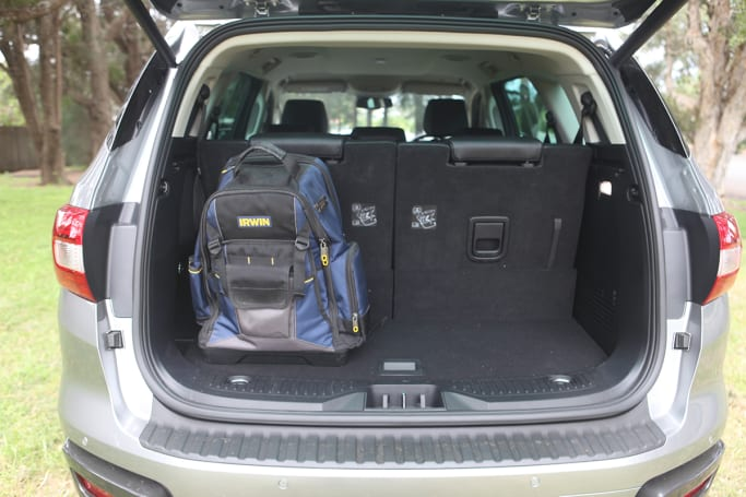 Ford Everest Boot space