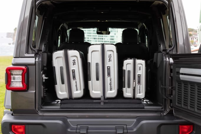 Jeep Wrangler Boot space