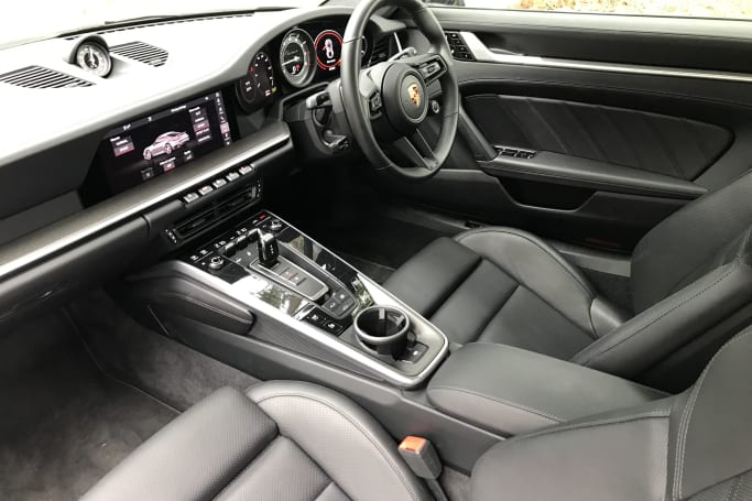 The 911 features heated adaptive sports front seats.