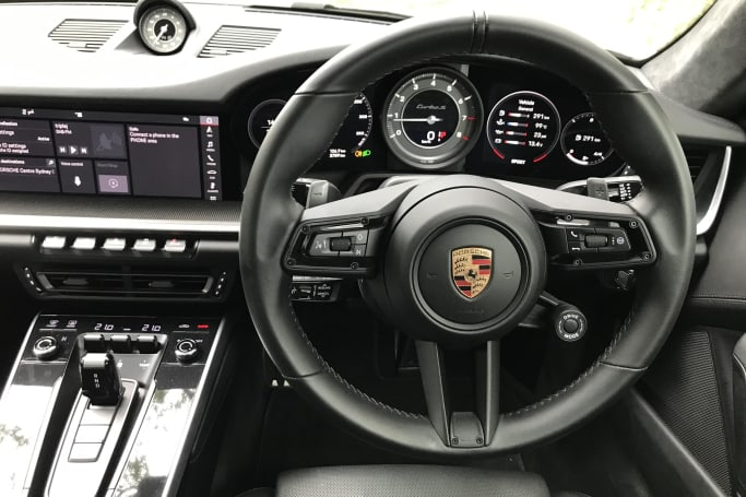 Steering is an electro-mechanically assisted.