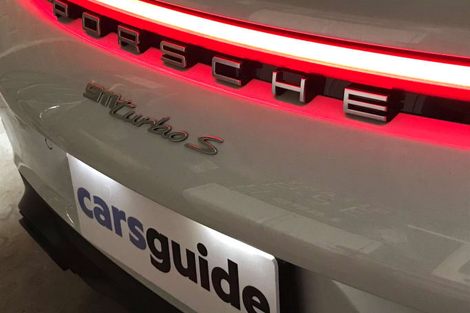 The Porsche 911 features LED DRLs and tail-lights.