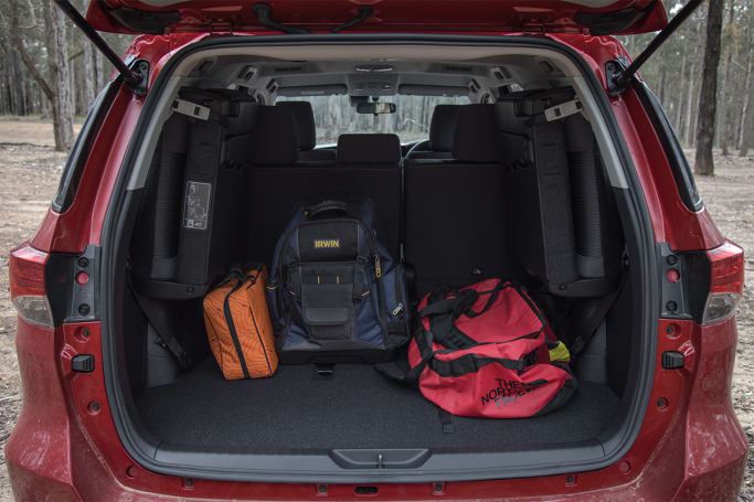 Toyota Fortuner  Boot space
