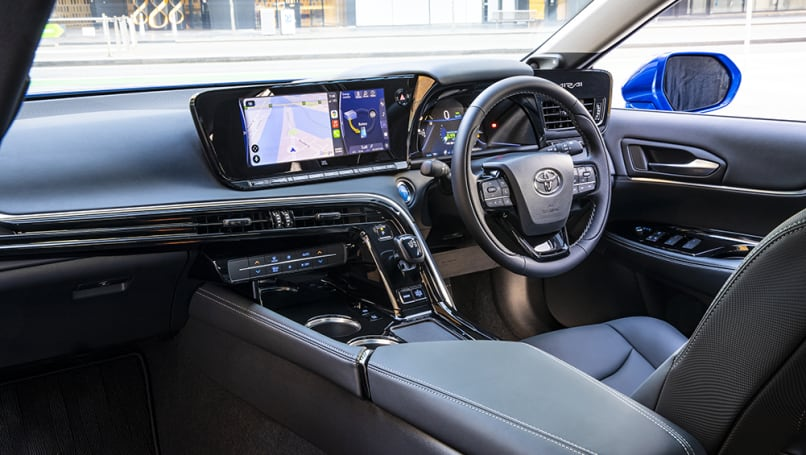 The multimedia system is shown on a 12.3-inch touchscreen.