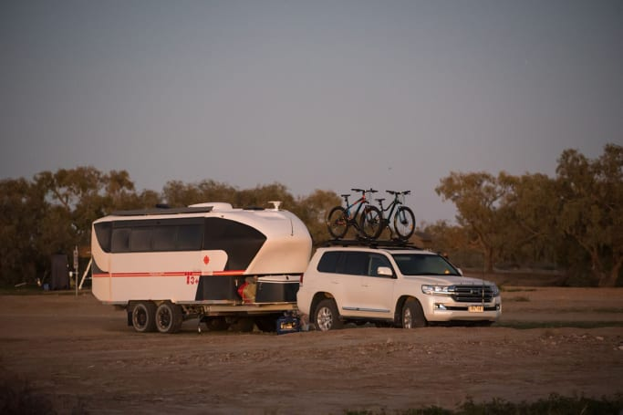 Enjoy the best of Birdsville for free by camping on the edge of town.