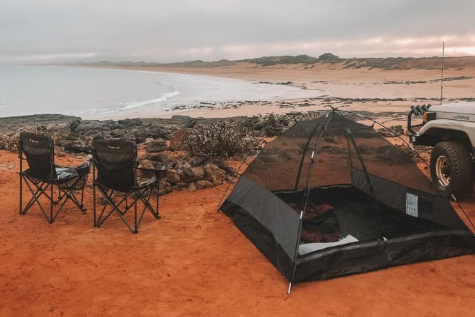 If free camping on James Price Point isn't the epitome of Aussie, we don't know what is.