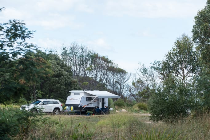 Lagoons Beach, one of the Apple Isle's best campsites is also free.