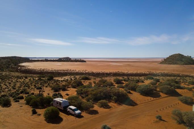 Get your arty side on at Lake Ballard, near Laverton in Western Australia.