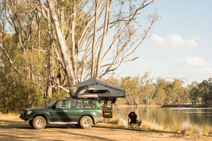 Most campsites along the Murray look a lot like this.
