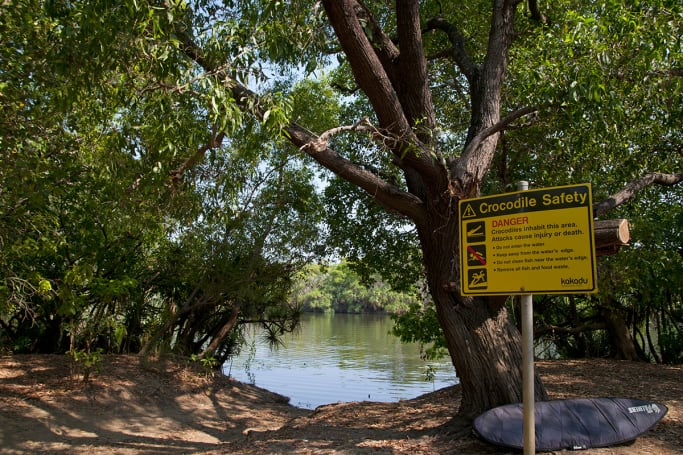 Watch crocs from this great free camp in Kakadu National Park.
