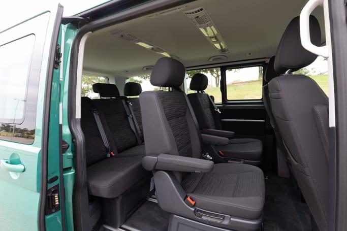 The Multivan feels like driving in a small room on wheels (image: Dean McCartney).