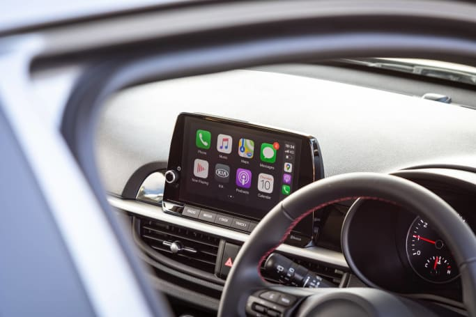 The Picanto features a giant 8.0-inch touchscreen (pictured: 2021 Picanto GT-Line).
