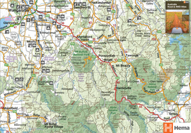 4wd Map Of Australia.4wd Off Road Adventure In Victoria S High Country Carsguide