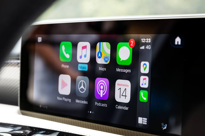This car has Apple CarPlay and Android Auto connectivity. (image: Tom White)