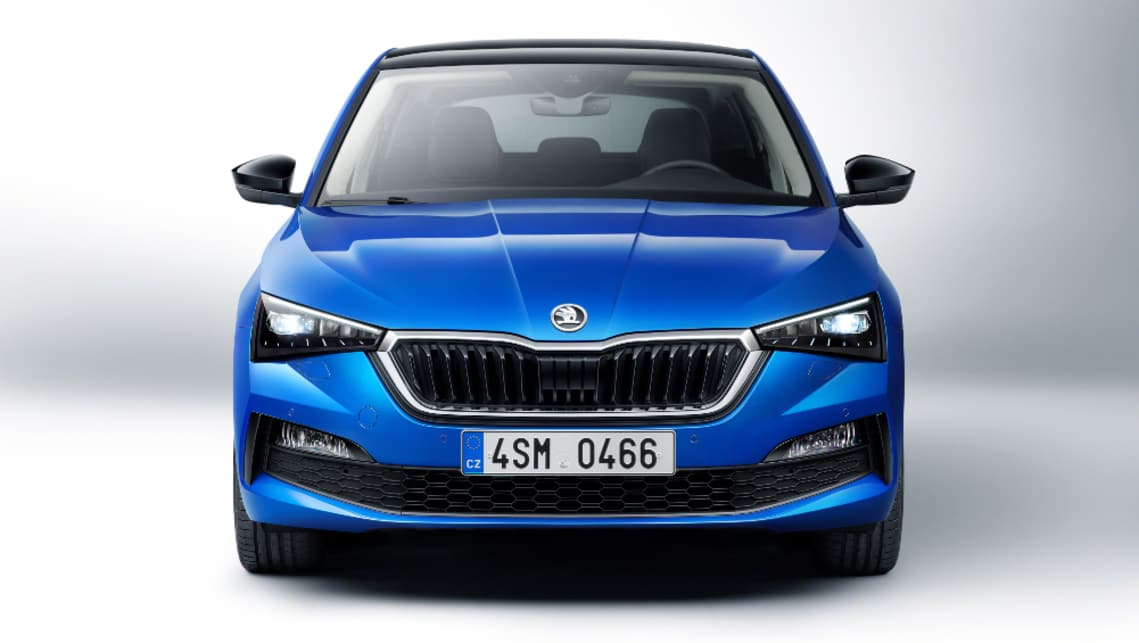 Skoda's new Scala small car has been officially unveiled.