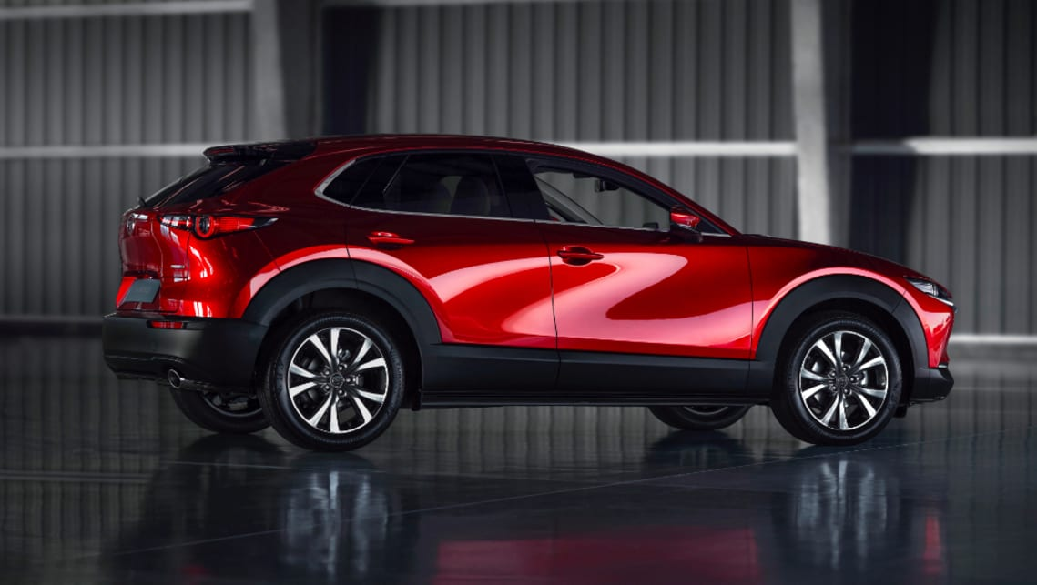 The CX-30 sits on a longer wheelbase compared to the CX-3.