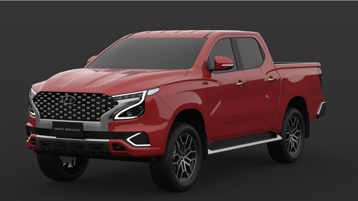 Hyundai ute render surfaces: Korean Toyota HiLux rival could look this good