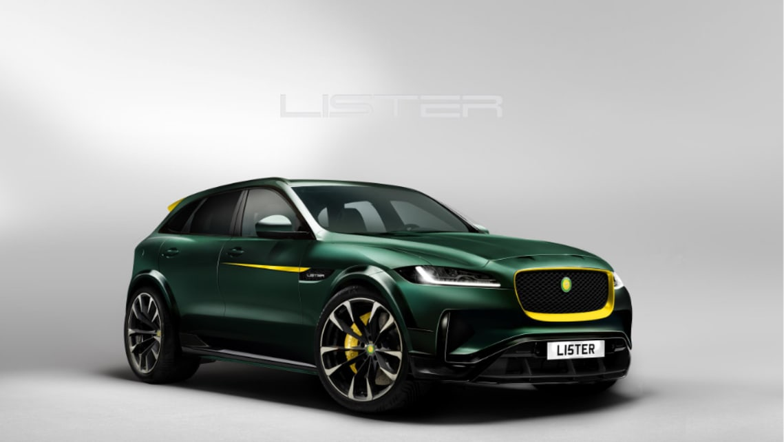 You can see the Jaguar resemblance in Lister's fist SUV.