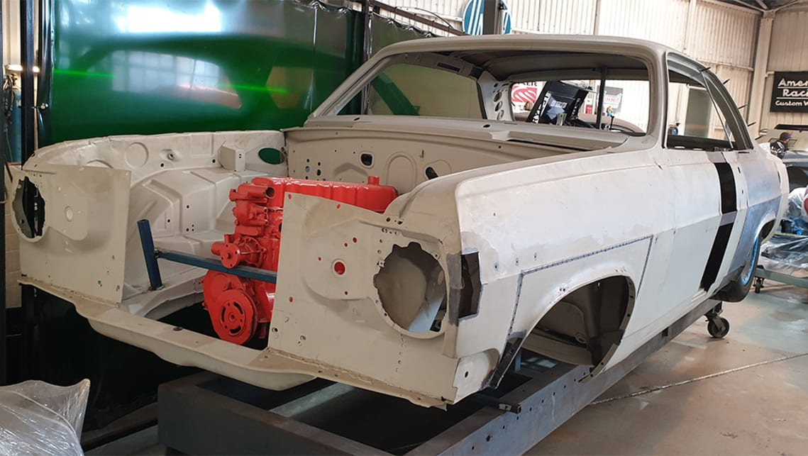 The HR will run a modified Holden six-cylinder and air bag suspension.