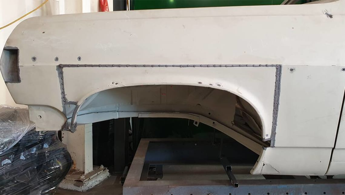 The front wheel openings are moved up and forward, while the doors are lengthened.