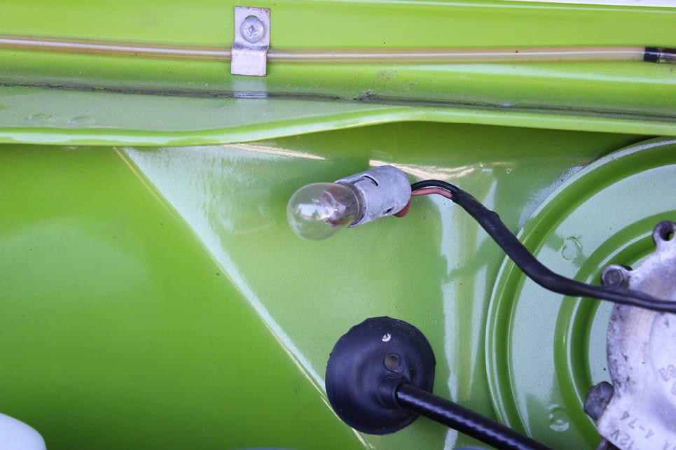 Just like your fridge, this globe would light up when the bonnet was open. (image credit: Ross Vasse)