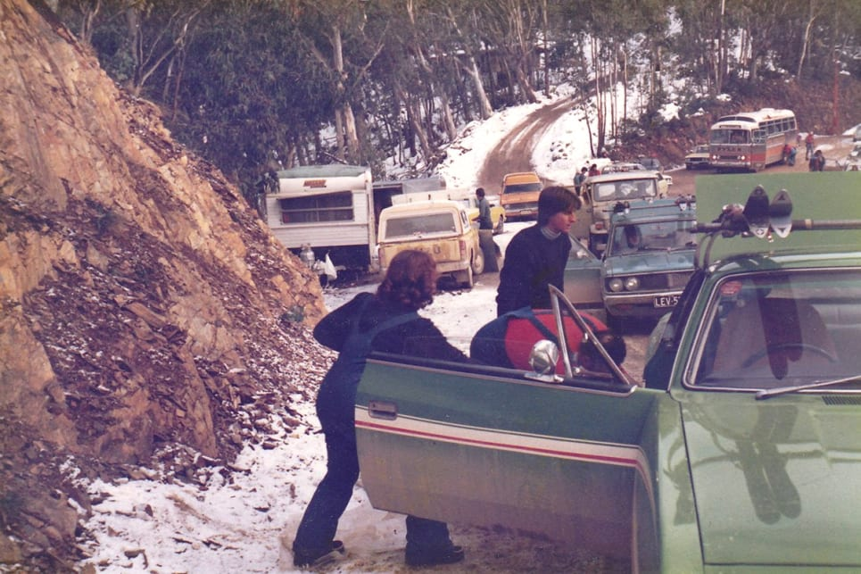 Johnny would take his family on an annual trip to the snow in the Victorian alpine region. (image credit: Ross Vasse)