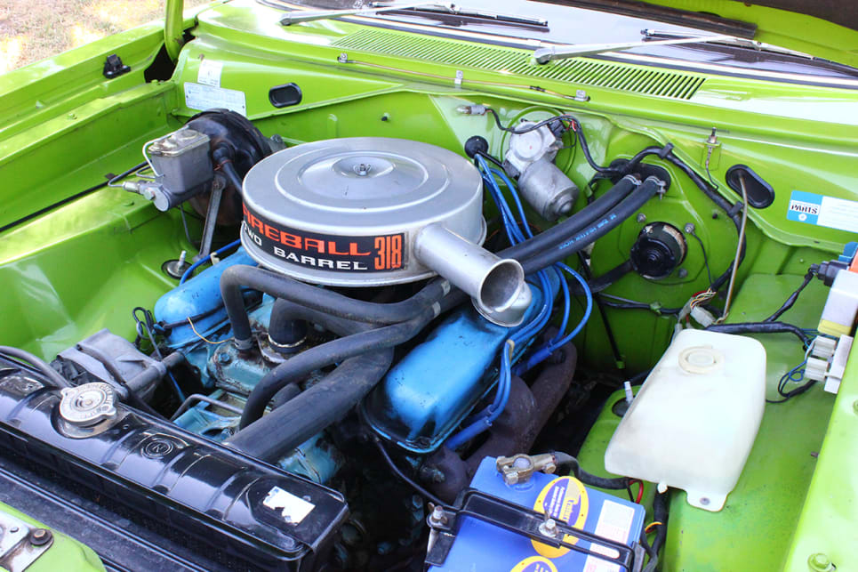 The original Fireball 318ci V8 provides plenty of power plus an addictive rumble. (image credit: Ross Vasse)