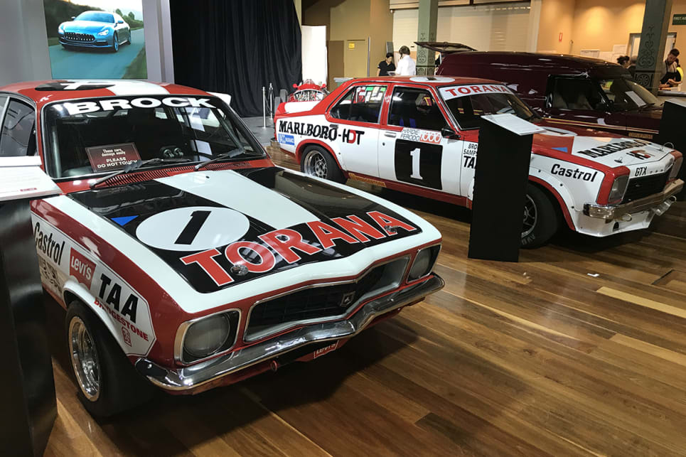 Two of Peter Brock's racing Toranas, an XU-1 and an SLR 5000. (image credit: James Cleary)