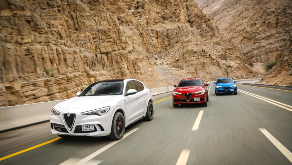 "Alfa says the Stelvio features a ""near perfect"" 50:50 weight distribution and a quick-thinking auto that can shift cogs in less than 100 milliseconds."