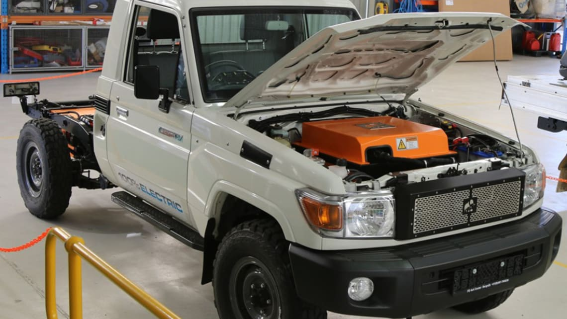 The iconic LandCruiser has undergone an EV makeover.