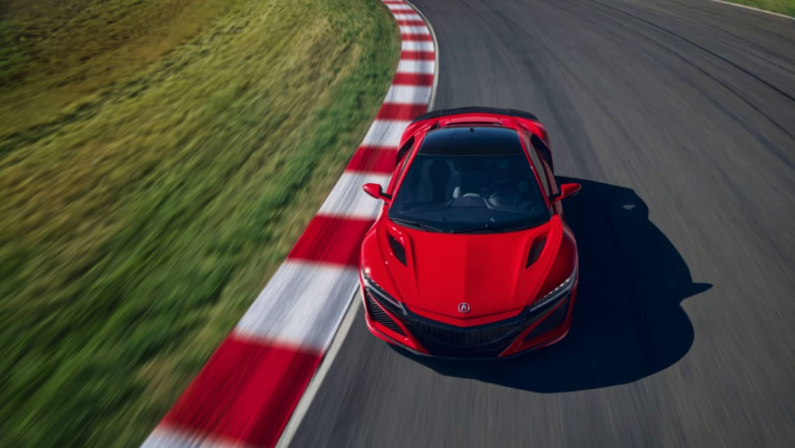 Honda says it has modified the chassis, tyres and software to generate more performance, as well as tweaking the NSX's twin-turbocharged and mid‑mounted V6.