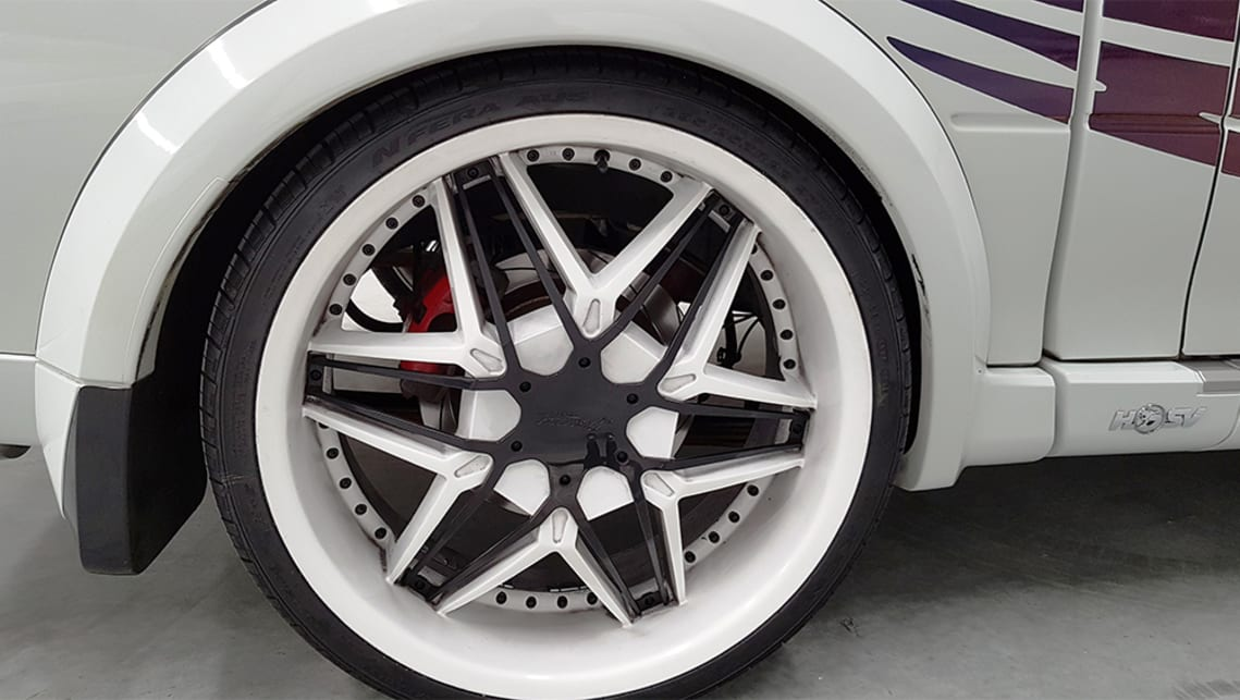 """22-inch rims sitting low to the ground"". (image credit: Lloyds Auctions)"