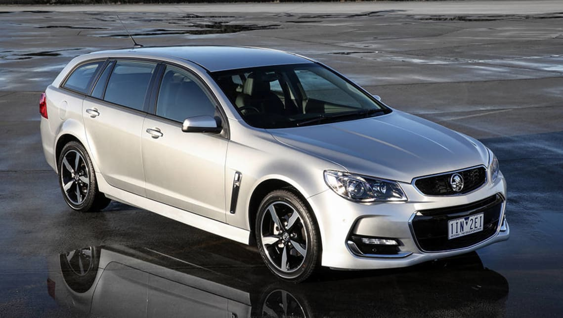 The current Holden Commodore should be able to accommodate three child seats across the back seat.