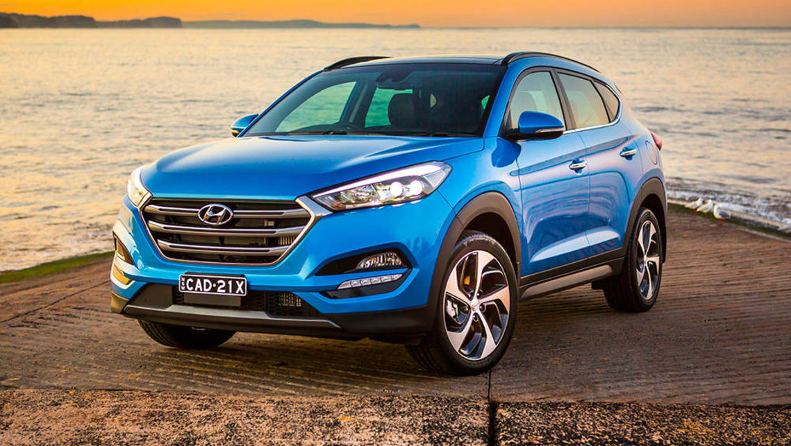 The current Hyundai Tucson should be able to accommodate three child seats across the back seat.