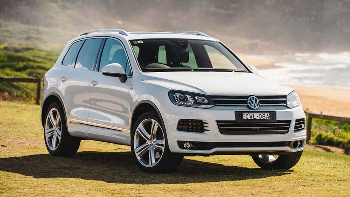 The current Volkswagen Touareg should be able to accommodate three child seats across the back seat.