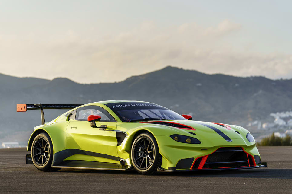 Aston revealed the Vantage GTE on the same day as the road version.