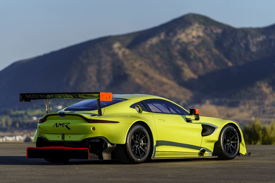 The Aston Martin GTE dials up the Vantage's dramatic looks.