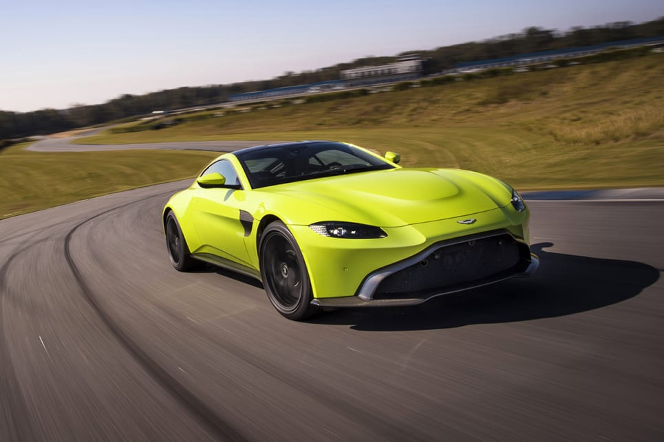 Aston Martin claims that the Vantage will create 375kW/685Nm, thanks to its four-litre, twin-turbo V8.