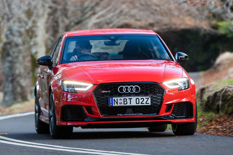 The usual Audi Sport tweaks are along for the ride too, with a new grille and headlights from the A3 general update.